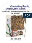 Very High Performance Image Rejecting Direct Conversion Receivers
