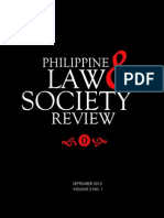 Philippine Law and Society Review