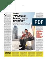 Clarín - Sí - 19 de octubre Soundica - Podemos hacer cosas grandes