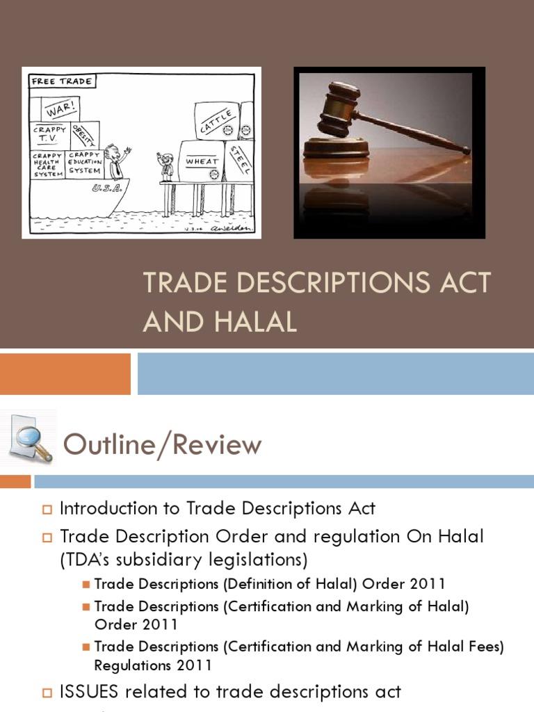 TDA on Halal | Foods | Trademark