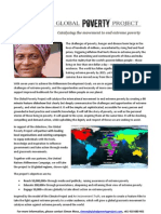 Global Poverty Project 1 page paper
