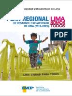 Plan Regional de Desarrollo Concertado de Lima Metropolitana 2012 - 2025