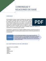 Comunidad y Organizaciones de Base - Informe