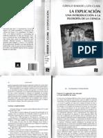 Bakker, Gerald y Clark, Len - La Explicación, una introducción a la filosofía de la ciencia