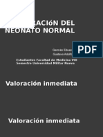 Valoración del neonato normal