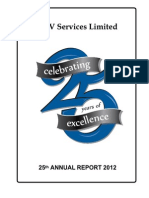 25th HOVS Annual Report 2012