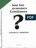 ¿Son los Mormones Cristianos? por Stephen E. Robinson