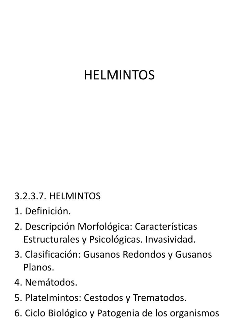 Helmintusok és helminthiasisok és megelőzésük Kezelés a helmintusok kezelésére