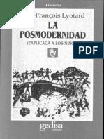 Lo Sublime y La Vanguardia Lyotard
