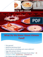 a taste of china teacher lecture