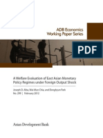 A Welfare Evaluation of East Asian Monetary Policy Regimes under Foreign Output Shock