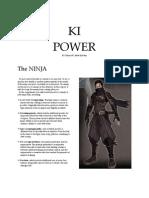 Ki Power (4th Edition Ninja Class Supplement)