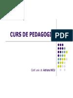 Pedagogie 2_curs_6_Relationare Si Comunicare Didactica