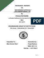 01PERFORMANCE APPRAISAL  FOR DABUR INDIA LTD.docx