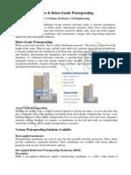 Above & Below-Grade Waterproofing Dr. G S Kame, Professor Civil Engineering.pdf