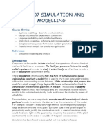 ICS2307 Simulation and Modelling Notes