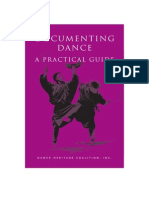 Documenting Dance a Practical Guide
