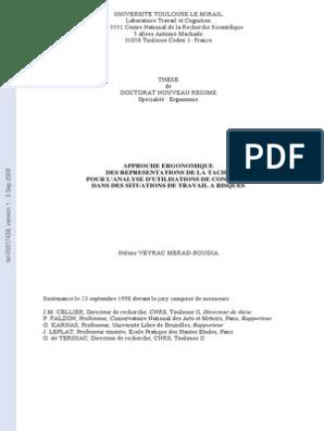 These Veyrac Ergonomie Et Facteurs Humains Perception