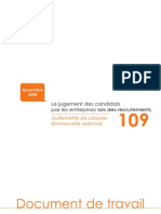 109-Jugement Candidats Entreprises Recrutements