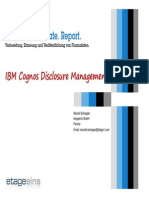 IBM Cognos Disclosure Management - Factsheet