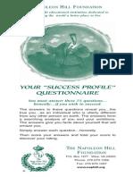 Napoleon Hill - Success Profile