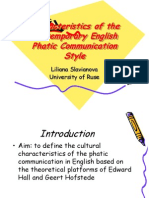 Characteristics of the Contemporary English Phatic Communication Style.ppt