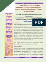 2.Ethnobotanicalsurveyofmedicinalplantsfromkamareddyrangeofnizamabaddistrictandhrapradeshindiabyj.swamye.venkateshammallesh.sandb.bhadraiah