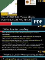 L25 Waterproofing of walls, beams, columns, slabs, retaining walls.pdf