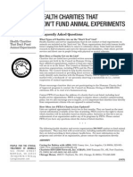 Charities That Dont Test on Animals