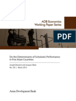 On the Determinants of Scholastic Performance in Five Asian Countries