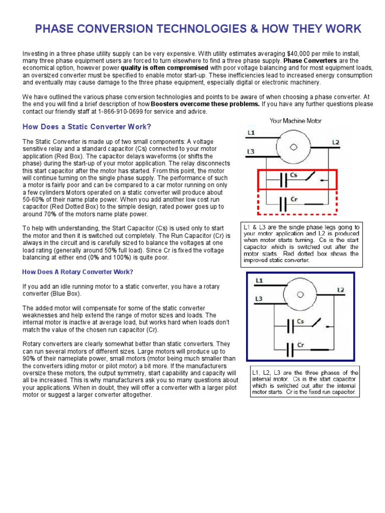 Converter Technologies Capacitor Engines 3 Phase Rotary Wiring Diagram Free Picture