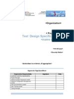 Test Design Specification Template