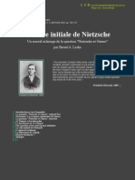 La Crise Initial de Nietzsche