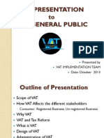 VAT Presentation to the General Public