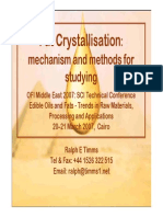 Fat Crystallisation
