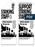 Support our HE staff strike - template leaflet