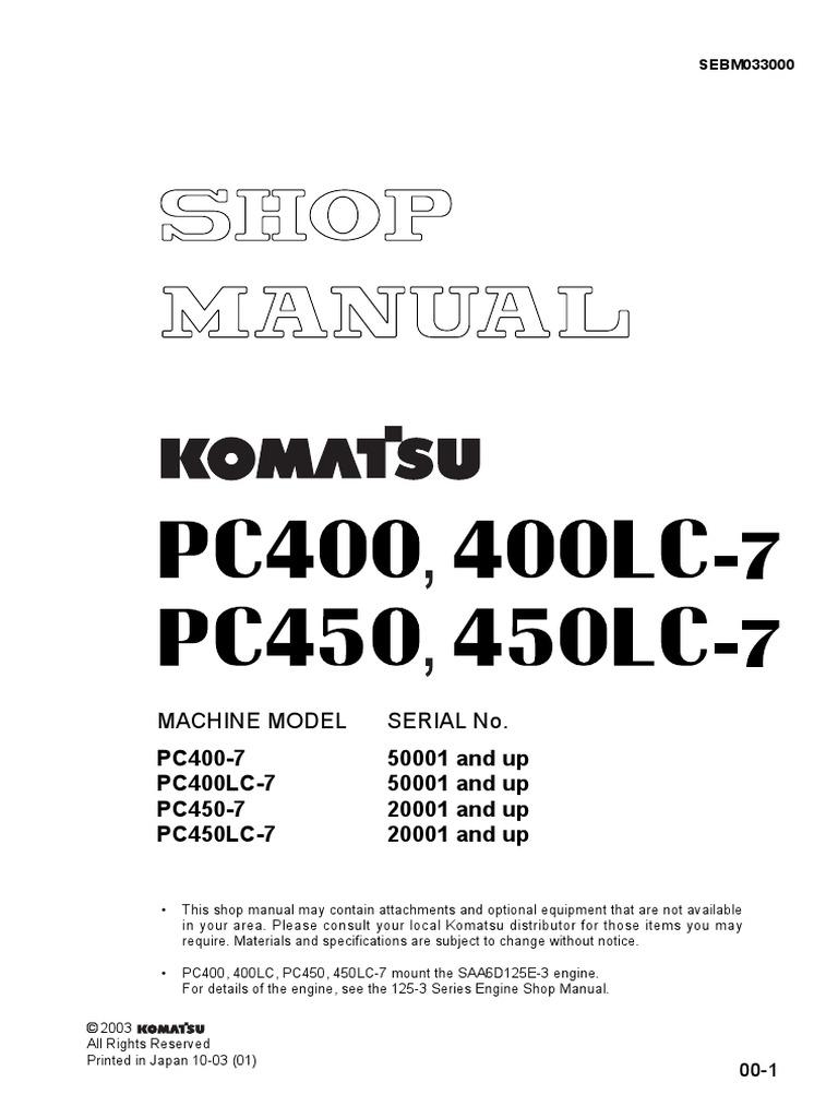 Pc400 Wiring Diagram Free Download Komatsu Shop Manual Pc450 Engineering Tolerance Gear