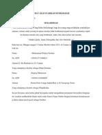 Surat Perjanjian Mudharabah