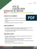 ICCROM Erramienta de Autoevaluación para depositos de Museos
