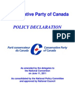 Conservative Party of Canada - Policy Declaration