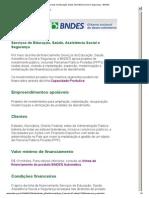 Serviços de Educação, Saúde, Assistência Social e Segurança - BNDES