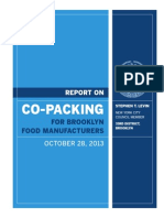 Report on Co-Packing for Brooklyn Food Manufacturers