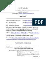 mandy capel curriculum vita 2013