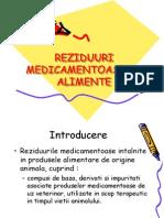 REZIDUURI MEDICAMENTOASE IN ALIMENTE.ppt
