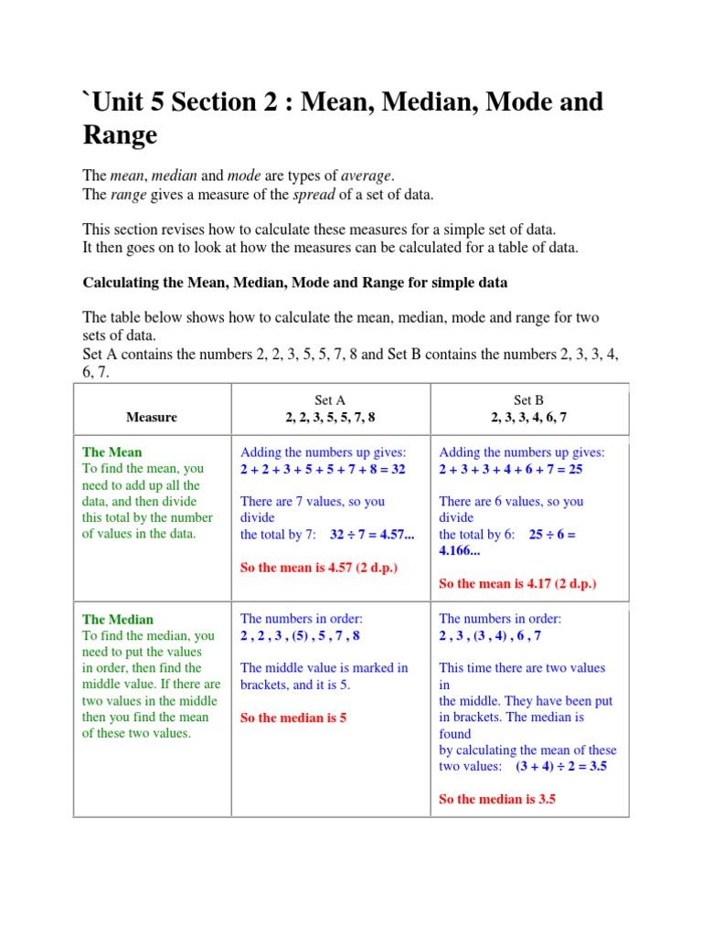 Workbooks sets worksheets for grade 7 : Mean Median Mode And Range Worksheets For 6th Grade blank clocks ...