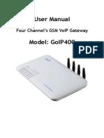 User's Manual for Etross GoIP-400