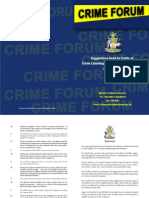 Crime Forum Recommendations