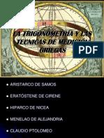 LA TRIGONOMETRÍA Y LAS TECNICAS DE MEDICIÓN GRIEGAS