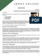Newsletter 5 Michaelmas Term 2013