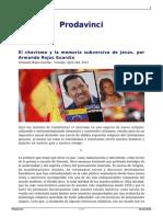 El Chavismo y La Memoria Subversiva de Jesus Por Armando Rojas Guardia